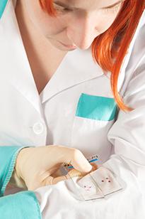 Анализ образцов зараженных тканей