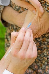 Инъекция вакцины от опоясывающего герпеса
