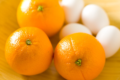 Похудение при помощи яиц и апельсинов