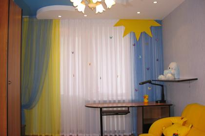 Интерьер детской комнаты - обои, оформление