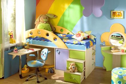 Интерьер детской комнаты - для двоих детей